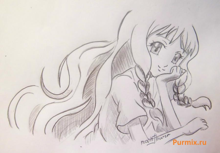 How to draw Yukari Sendo from Rosario + the Vampire with a simple pencil 8