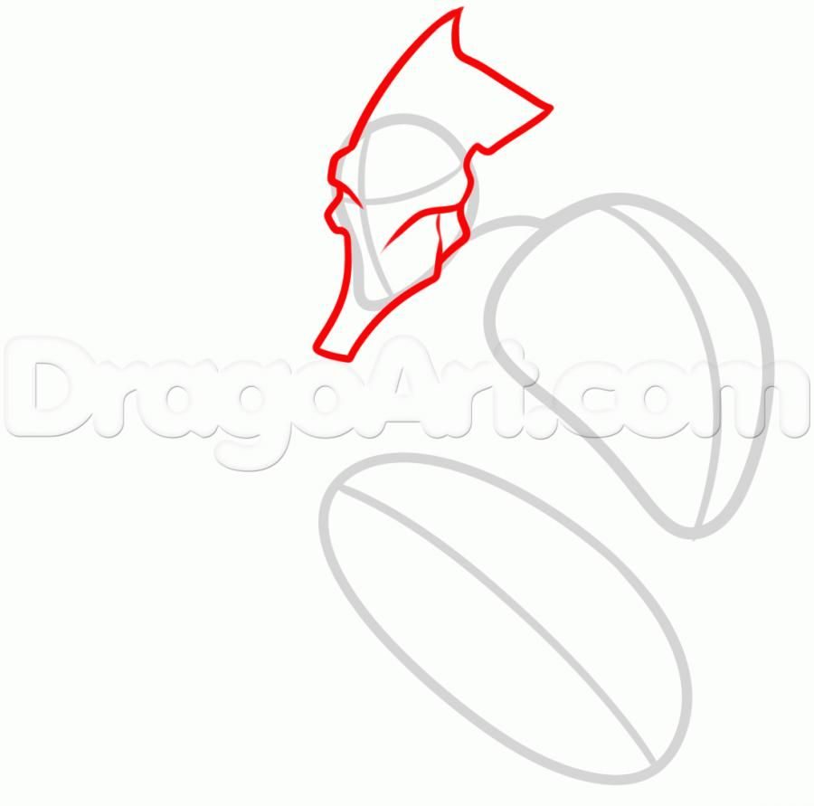 How to draw Fletchlinga from Pok?mon X and Y pencil step by step 3