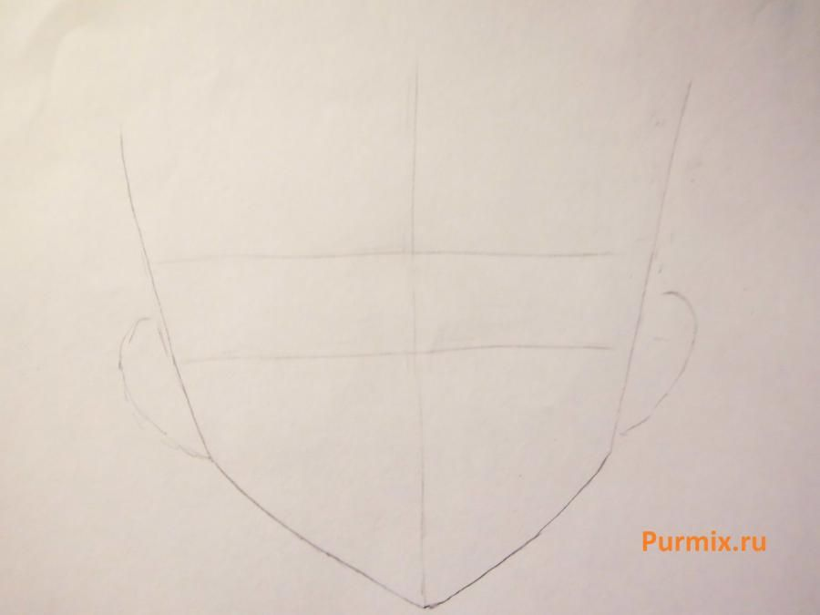 We learn to draw a lovely anime of a lisyonok a simple pencil 2