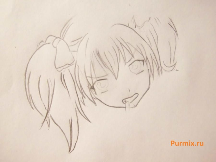 We learn to draw Sidzuka Nekonome from Rosario's anime + the Vampire a pencil 4