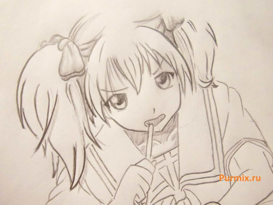 We learn to draw Sidzuka Nekonome from Rosario's anime + the Vampire a pencil 7