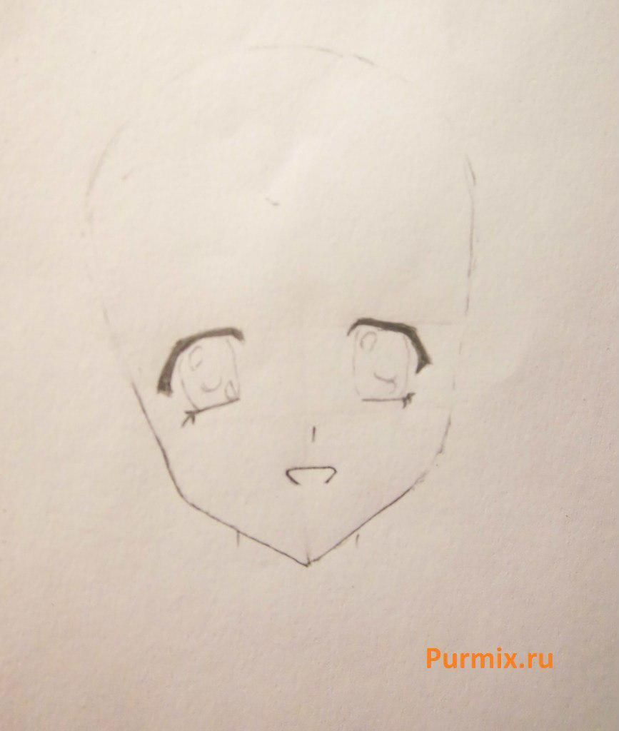 How to learn to draw Tsukune Aono from an anime of Rosario + Vampire 3
