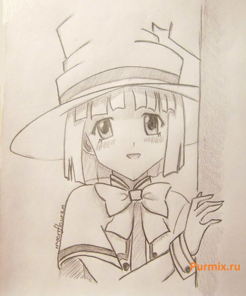 How to draw Yukari Sendo from Rosario + the Vampire with a simple pencil