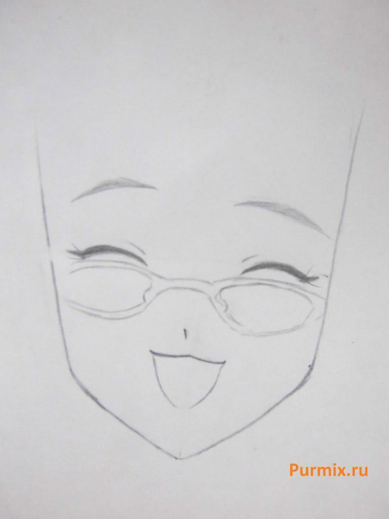 How to draw Tifaniya from an anime of Zero no Tsukaima with a pencil step by step 3