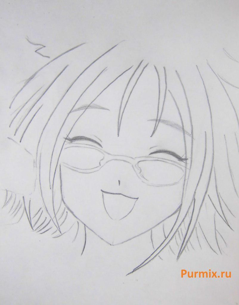 How to draw Tifaniya from an anime of Zero no Tsukaima with a pencil step by step 4