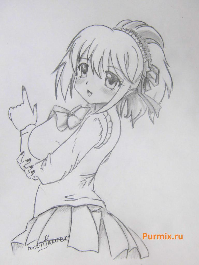 How to learn to draw Monmoransi from an anime dull Louise's Helper 9