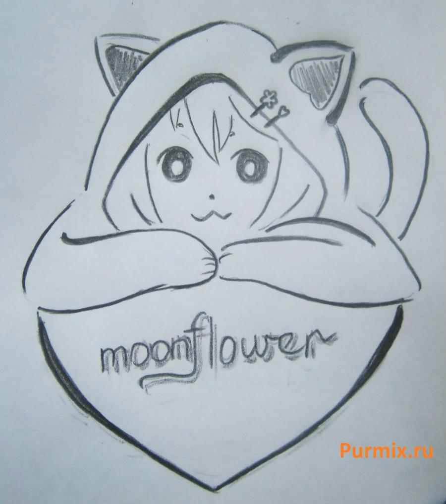 As it is simple to draw pretty neko on paper with a pencil