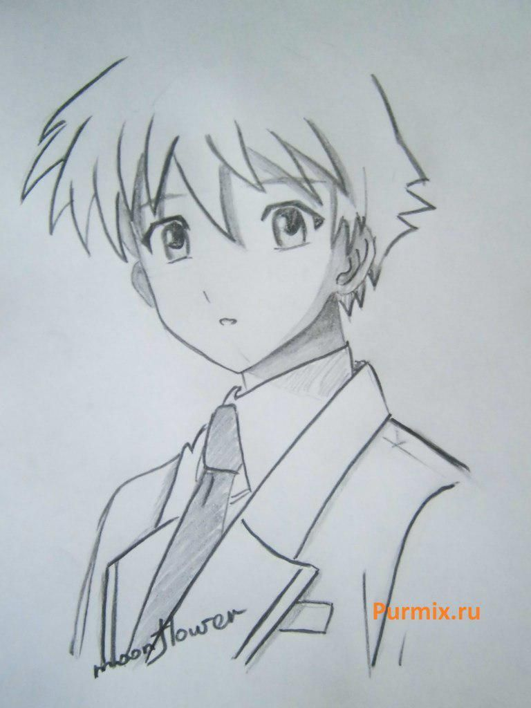 How to learn to draw Tsukune Aono from an anime of Rosario + Vampire