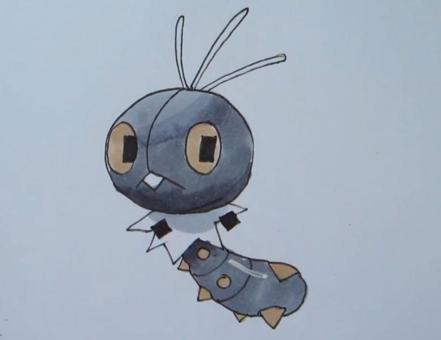 How to draw the Pokemon of Scatterbug from game Pok?mon X and Y pencil
