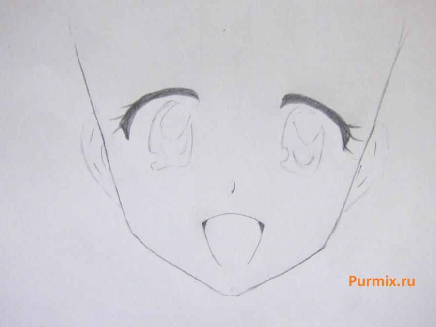 How to draw Sayto Hiraga from Dzero's anime but a tsukaym with a pencil 3