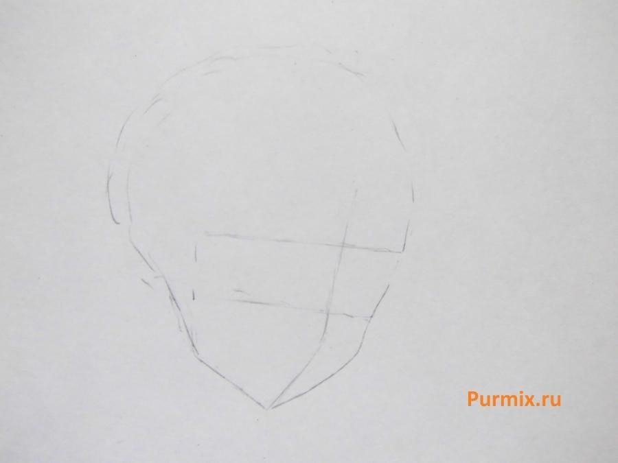 We learn to draw Savako Yamanaka from an anime of K-on a pencil step by step 2