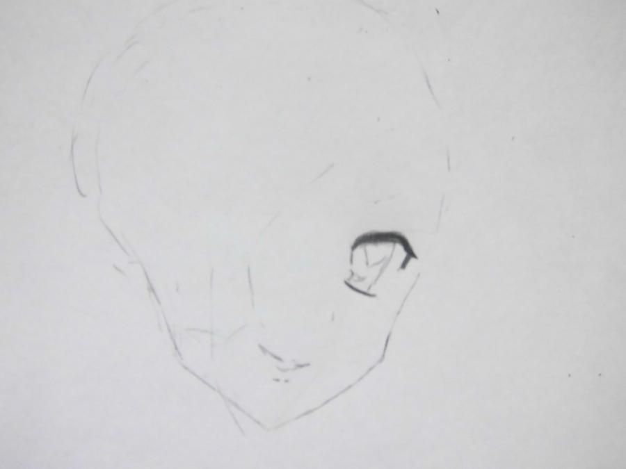 We learn to draw Savako Yamanaka from an anime of K-on a pencil step by step 3