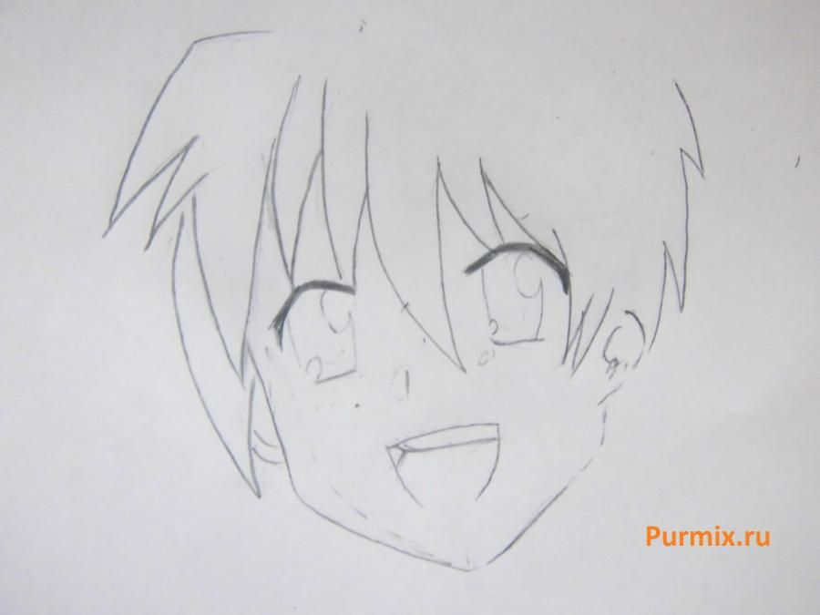 We learn to draw Mio Akiyama from an anime of K-on a simple pencil 4