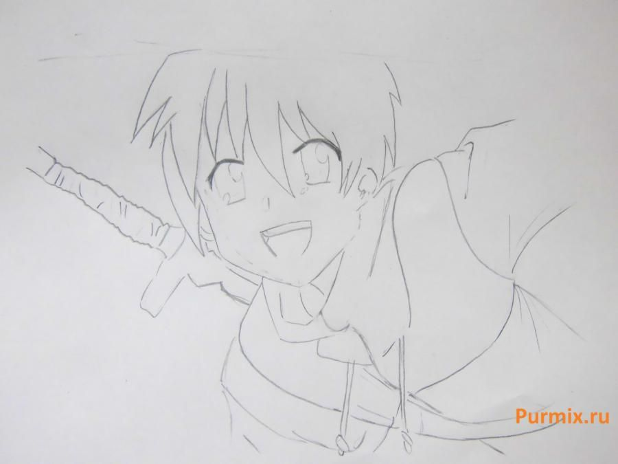 We learn to draw Mio Akiyama from an anime of K-on a simple pencil 5