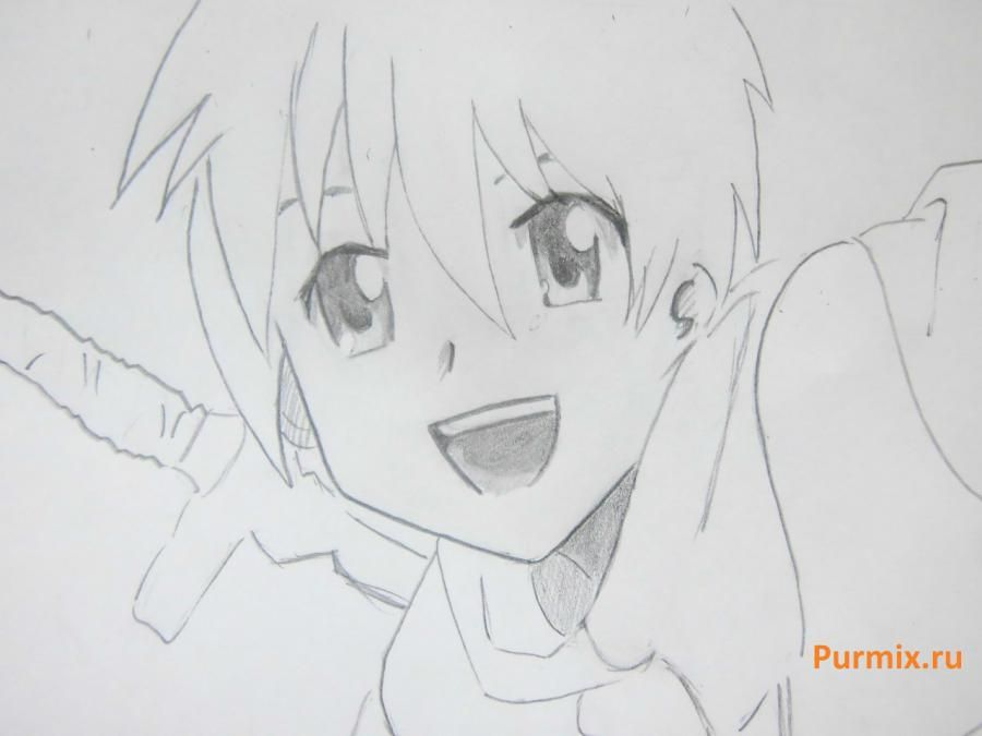 We learn to draw Mio Akiyama from an anime of K-on a simple pencil 6