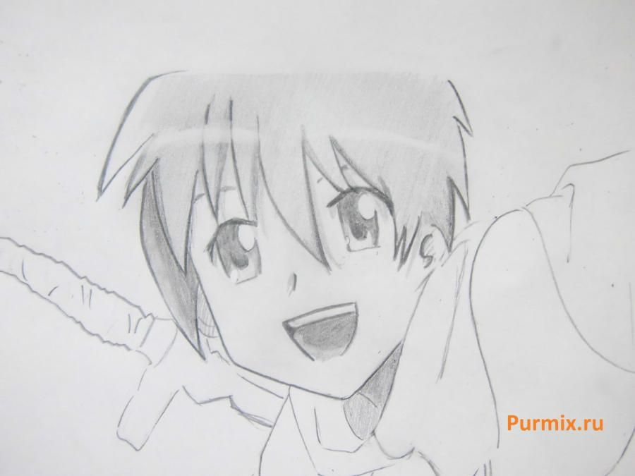 We learn to draw Mio Akiyama from an anime of K-on a simple pencil 7
