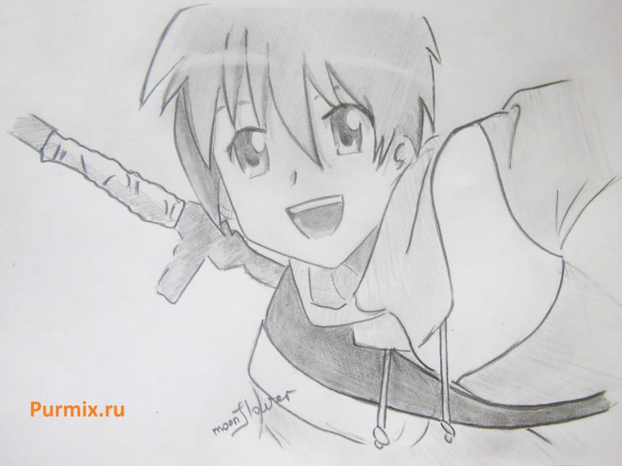 We learn to draw Mio Akiyama from an anime of K-on a simple pencil 8