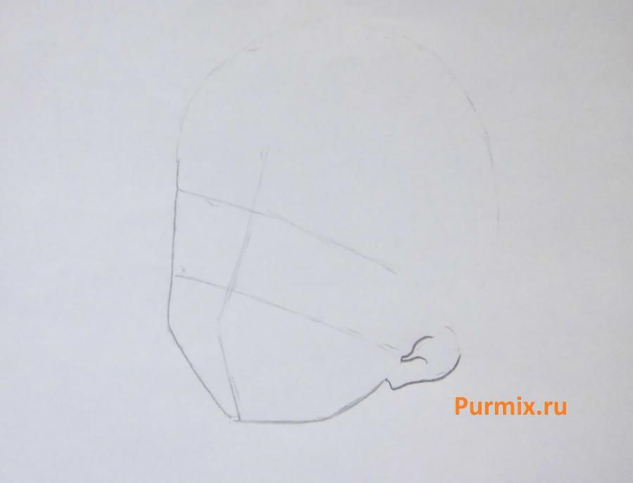 How to draw Ritsu Tainak from an anime of K-on with a pencil step by step 2