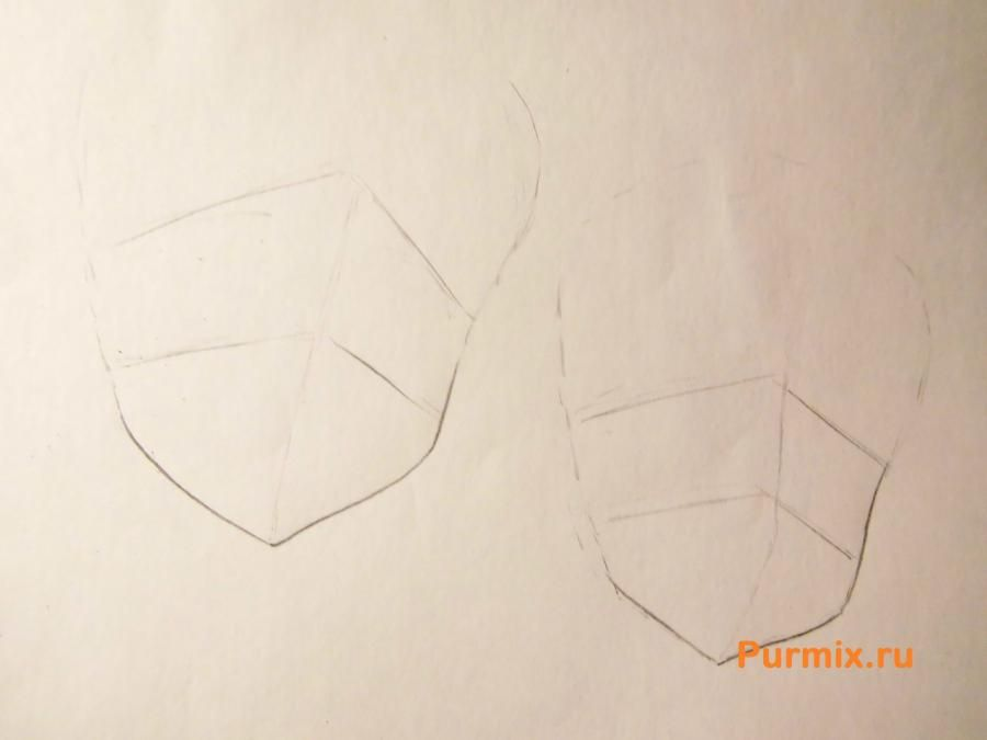 How to draw Tsumugi Kotobuki from an anime of K-on with a pencil step by step 2
