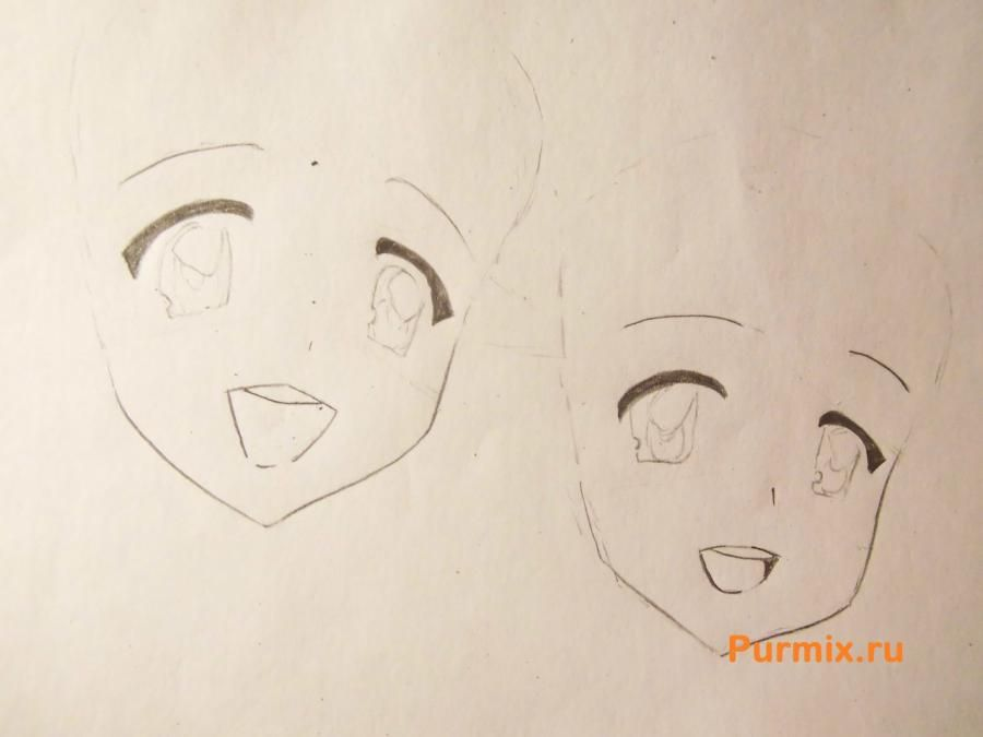 How to draw Tsumugi Kotobuki from an anime of K-on with a pencil step by step 3