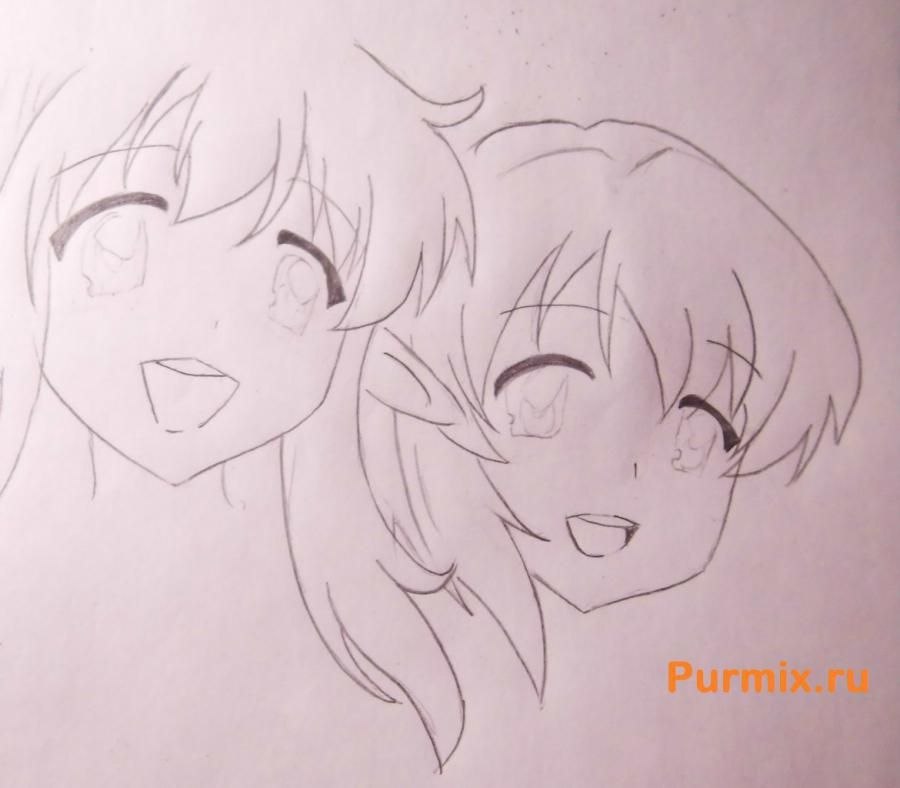 How to draw Tsumugi Kotobuki from an anime of K-on with a pencil step by step 5
