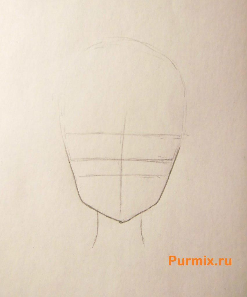 How to draw Adzusa Nakano from an anime of K-on with a pencil 2
