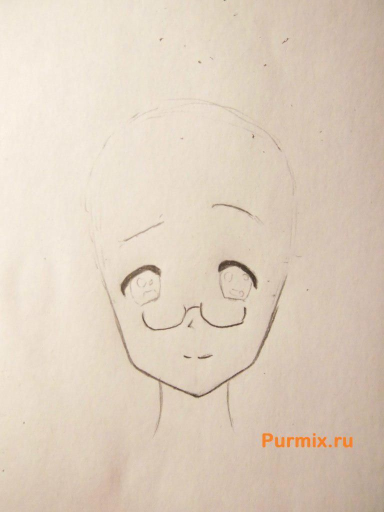 How to draw Adzusa Nakano from an anime of K-on with a pencil 3