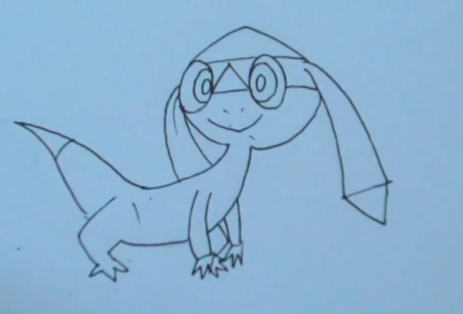 How to draw the Pokemon Litleo from Pok?mon X and Y pencil step by step 3
