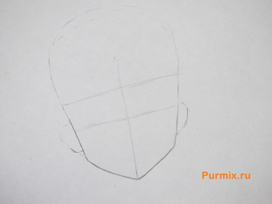 How to draw Yu Hirasavu from an anime Club of a light music with a pencil 2