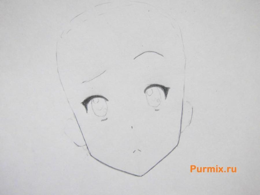 How to draw Yu Hirasavu from an anime Club of a light music with a pencil 3