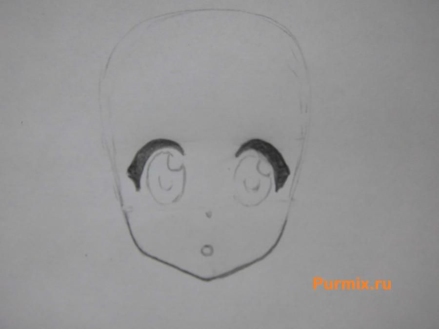 We learn to draw an anime the girl a simple pencil step by step 3
