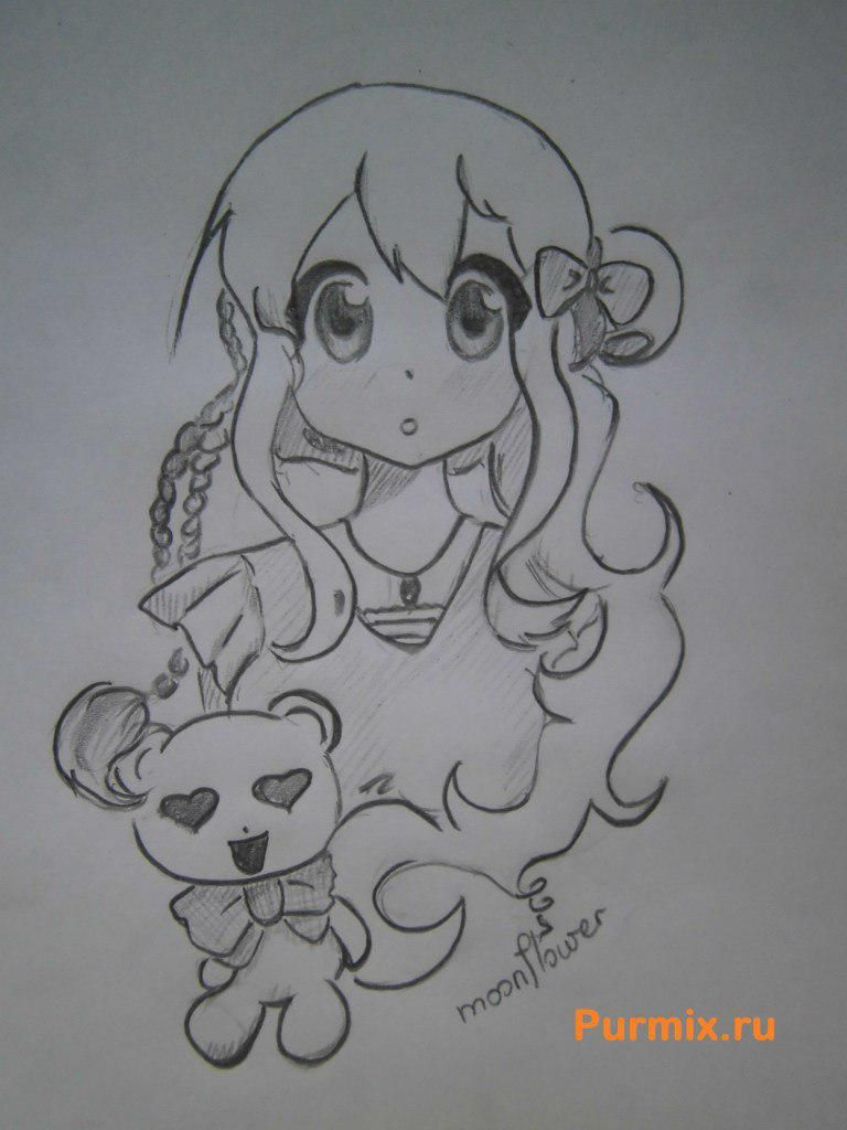 How to draw Tsumugi Kotobuki's art from an anime of K-on