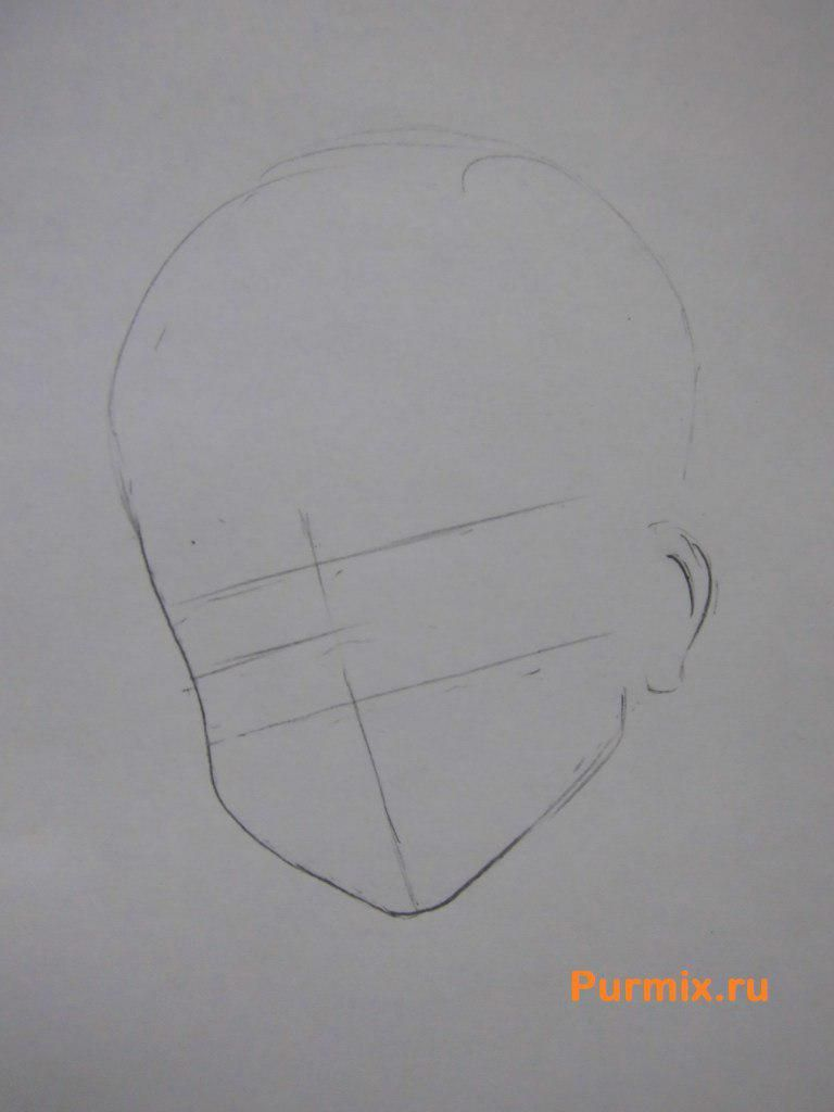 How to draw Ritsu Tainak from an anime of K-on with a pencil 2