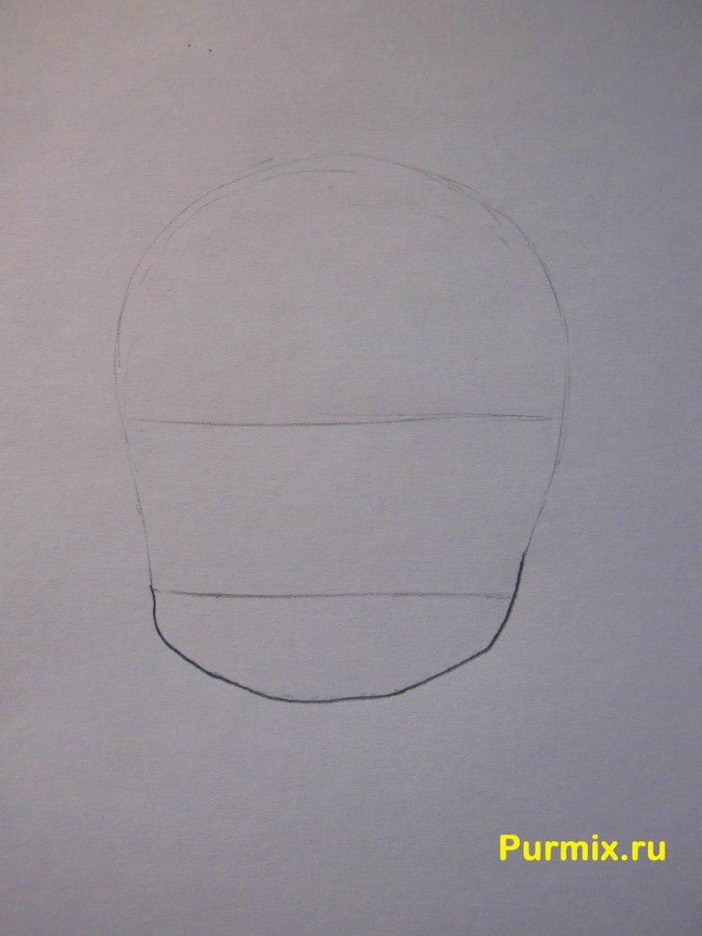 How to draw Kotaro Motidzuki from the Brotherhood of black blood with a pencil 2