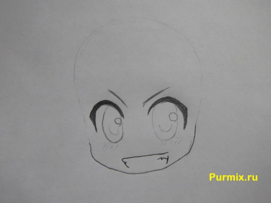 How to draw Kotaro Motidzuki from the Brotherhood of black blood with a pencil 3