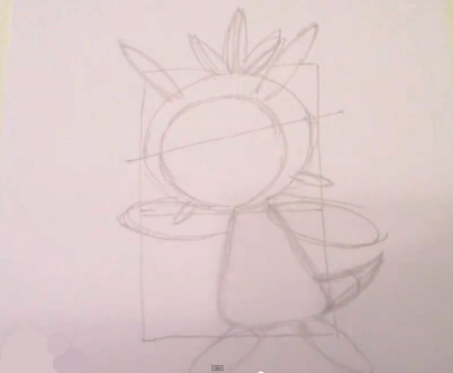 How to draw the Pokemon Kserniya from game Pok?mon X and Y pencil 4