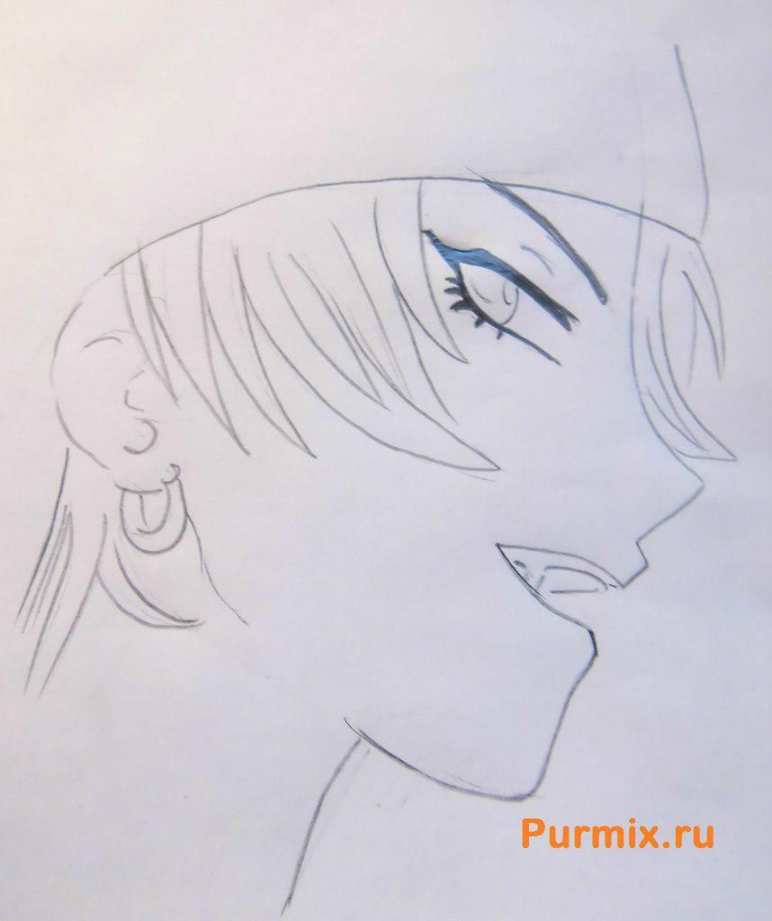 How to draw Kirigaya Kadzuto from an anime the Master throwing online 4