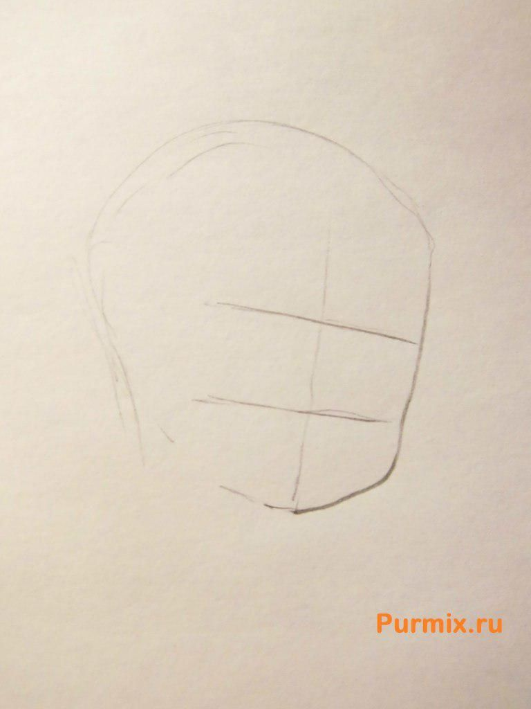 How to draw Ai Sudzuno from an anime the Monochrome factor with a pencil 2