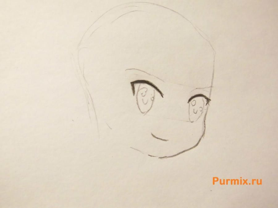 How to draw Ai Sudzuno from an anime the Monochrome factor with a pencil 3