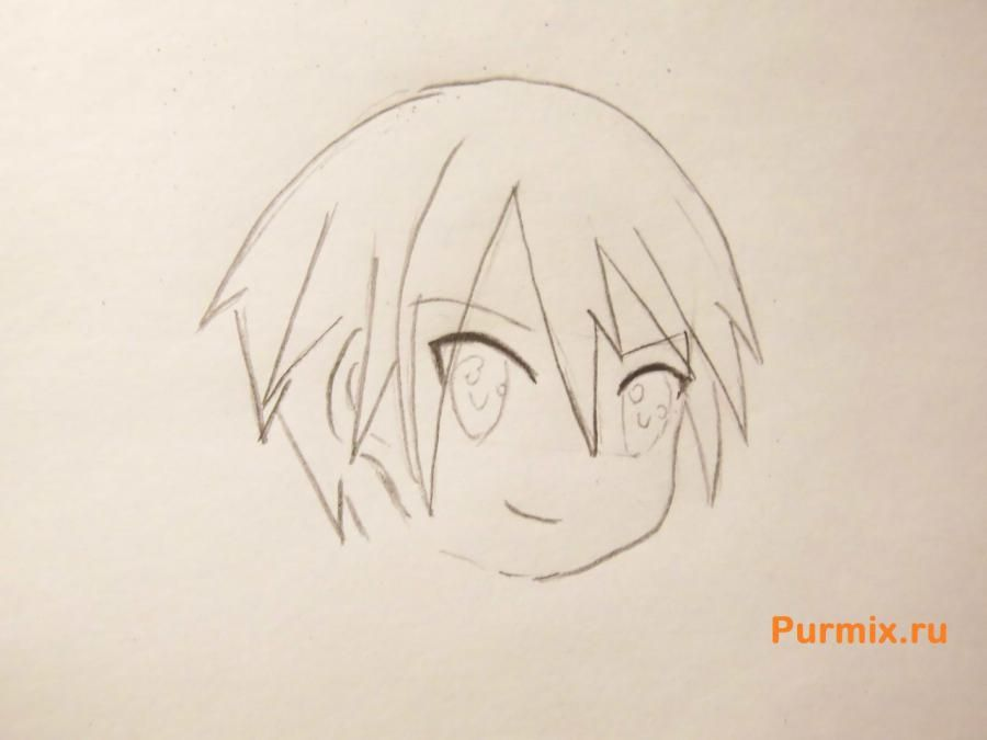 How to draw Ai Sudzuno from an anime the Monochrome factor with a pencil 4