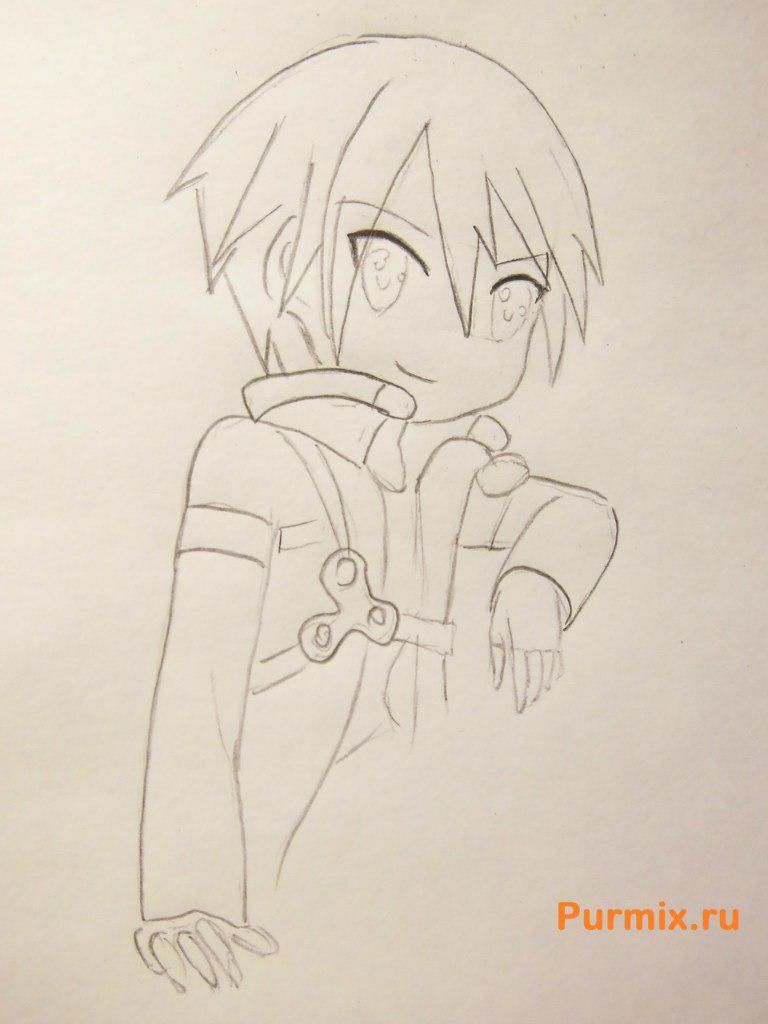 How to draw Ai Sudzuno from an anime the Monochrome factor with a pencil 5