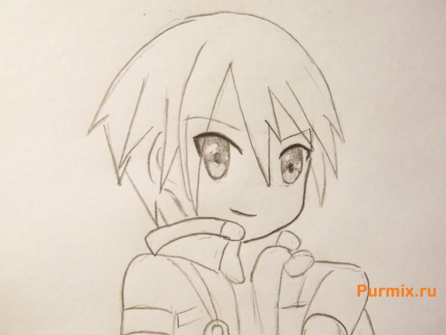 How to draw Ai Sudzuno from an anime the Monochrome factor with a pencil 7