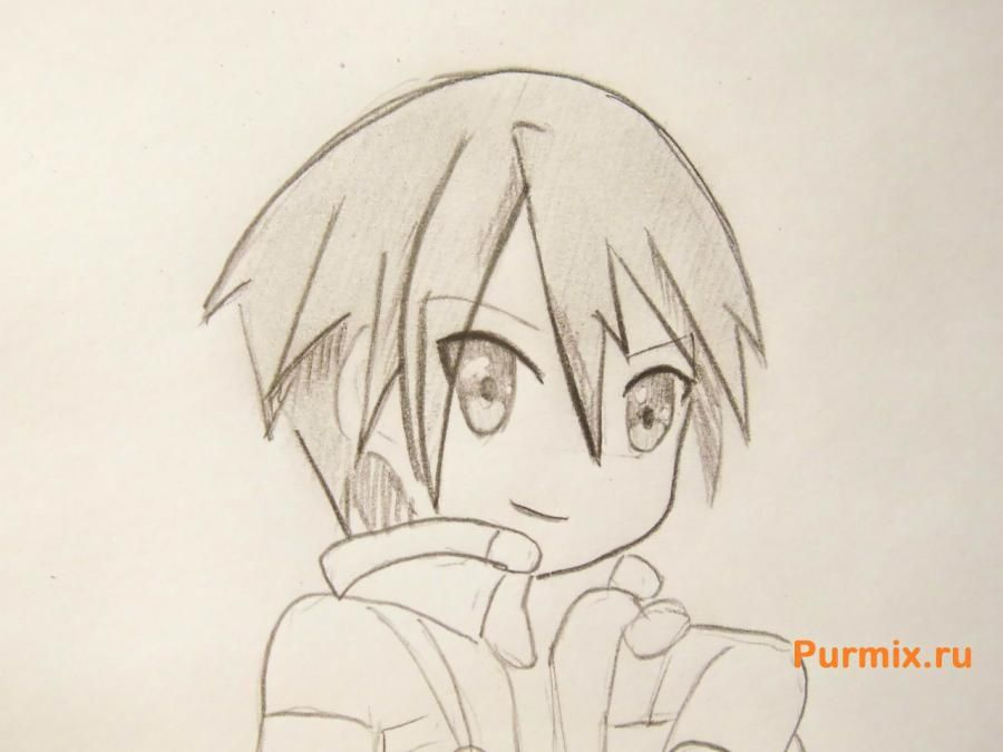 How to draw Ai Sudzuno from an anime the Monochrome factor with a pencil 8