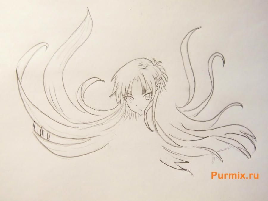 How to draw Xiu Sakamaki from Devil beloved with a pencil 4