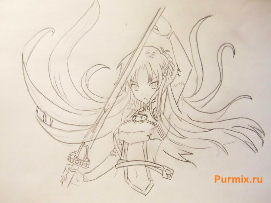 How to draw Xiu Sakamaki from Devil beloved with a pencil 5