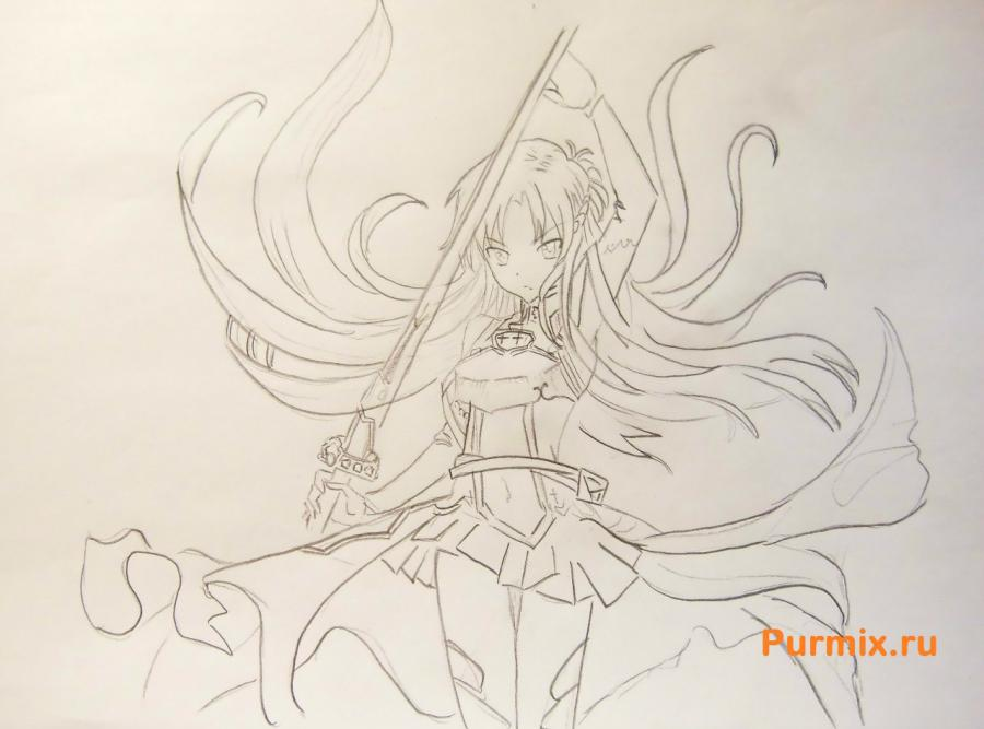 How to draw Xiu Sakamaki from Devil beloved with a pencil 6