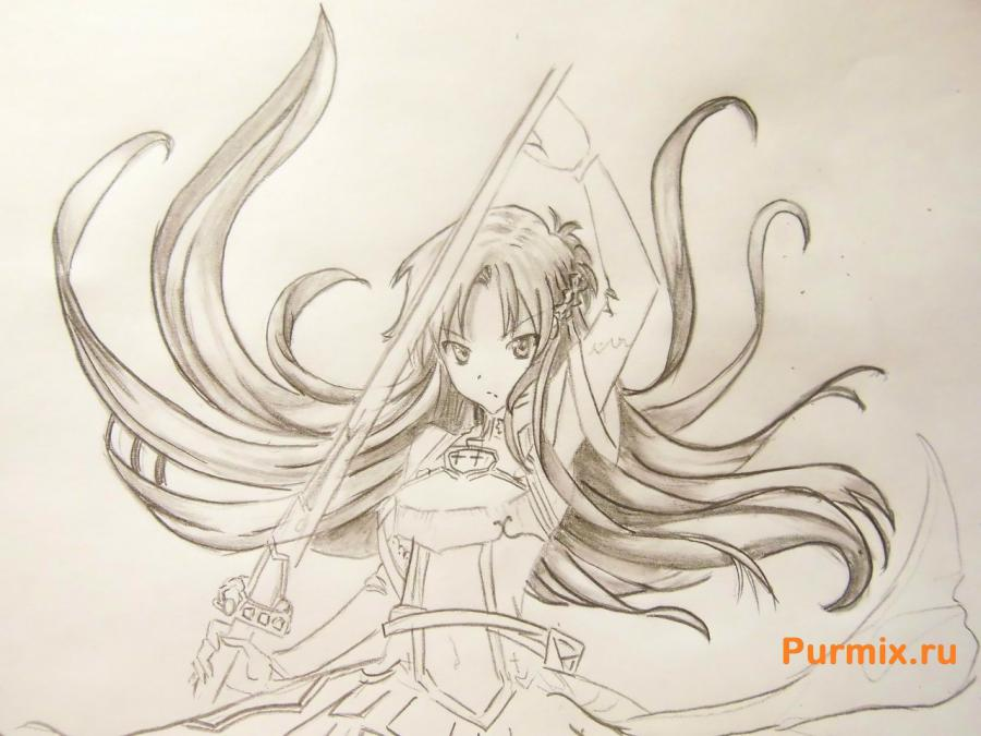 How to draw Xiu Sakamaki from Devil beloved with a pencil 8