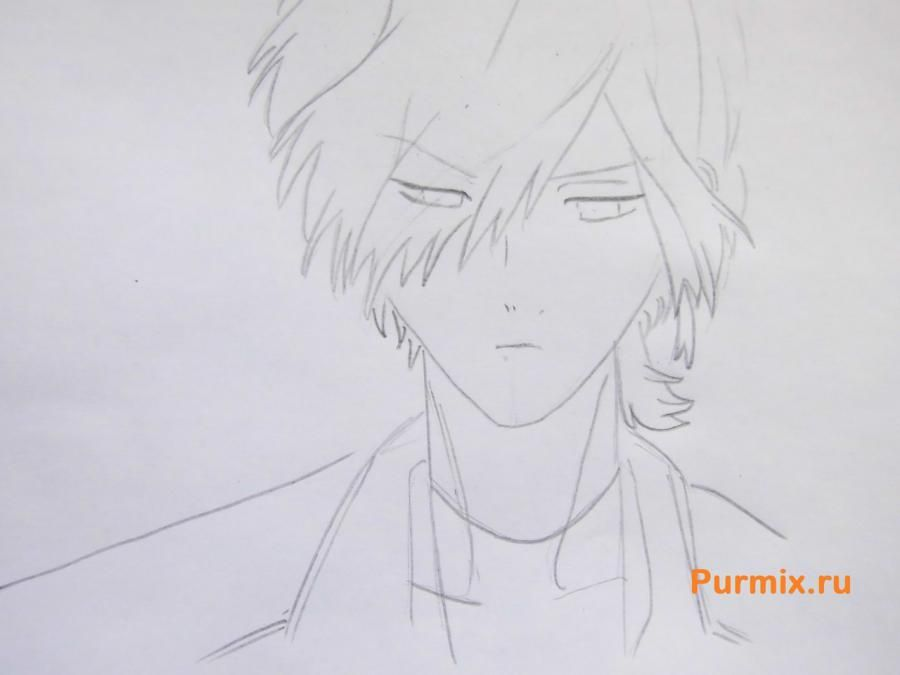 How to draw Yu Komori from an anime Devil beloved 4