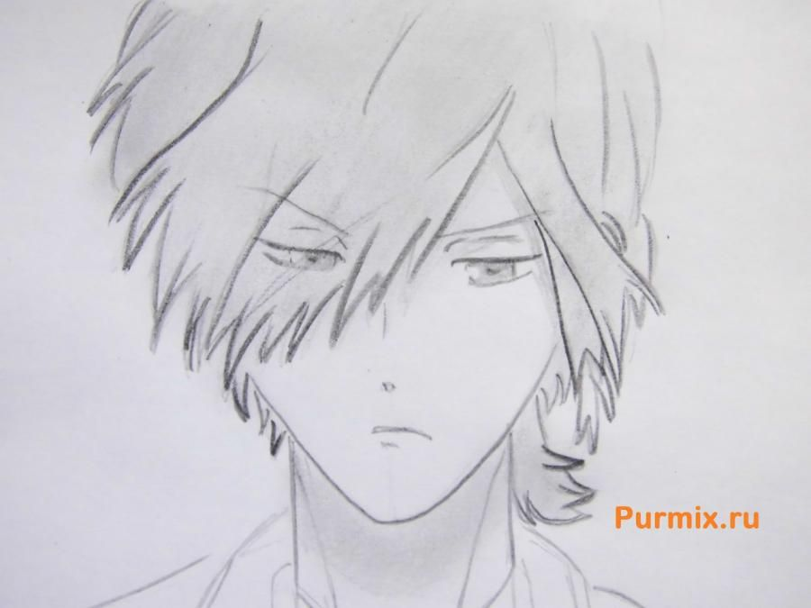 How to draw Yu Komori from an anime Devil beloved 6