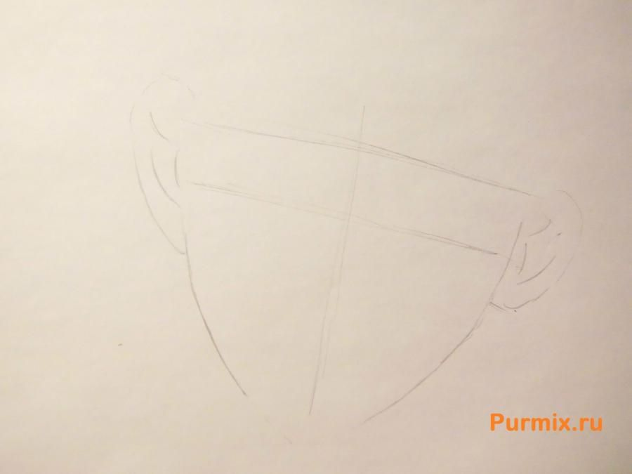 How to draw Ai Sindo from an anime beyond with a pencil step by step 2